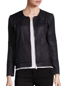 Faux Leather Moto Jacket by The Kooples