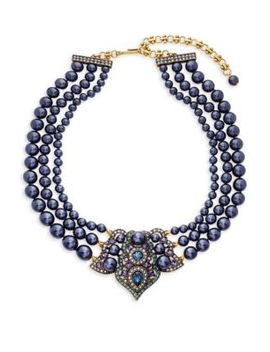 Crystal Antiqued Center Collar Necklace by Heidi Daus