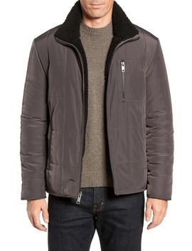 Faux Shearling Reversible Quilted Jacket by Marc New York