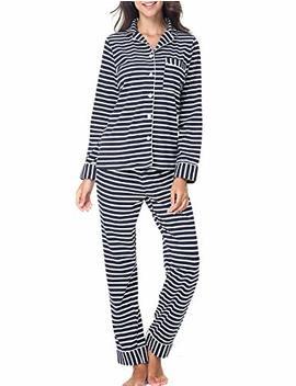 Rikilio Women's Pajamas Long Sleeve Sleepwear Soft Pj Set Xs Xl by Rikilio