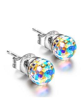 Ninasun Hypoallergenic Earrings Fantastic World 925 Sterling Silver Stud Earrings Fine Jewelry For Women, Crystals From Swarovski by Ninasun