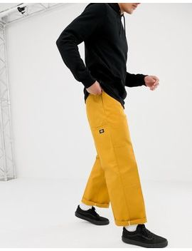 Dickies Double Knee Work Pant Chino In Yellow by Dickies