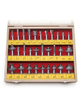 Mlcs 8369 1/2 Inch Shank Carbide Tipped Router Bit Set, 30 Piece by Mlcs