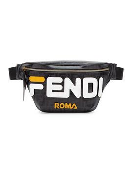 Men's Fendi Mania Coated Canvas Belt Bag/Fanny Pack by Fendi