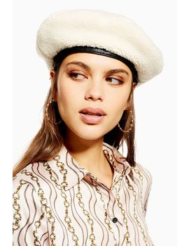 Borg Beret by Topshop