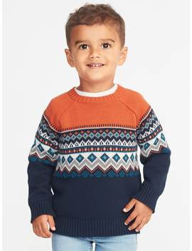 Fair Isle Sweater For Toddler Boys by Old Navy