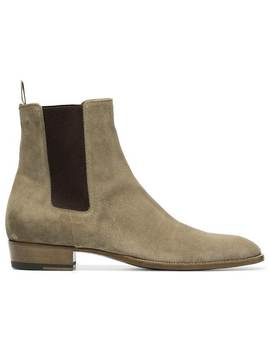 Chelsea Boots Aus Wildleder by Saint Laurent