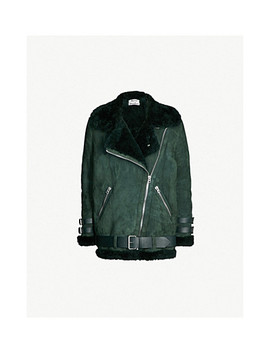Velocite Shearling Trimmed Suede Jacket by Acne Studios