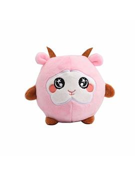 "Squeezamals   3.9"" Plush Squeezable Sheep Pink Vent Toys Squishamals Super Squishy Foamed Stuffed Animal Claw Cute, Lovely, Soft, Adorable! by Leatou"