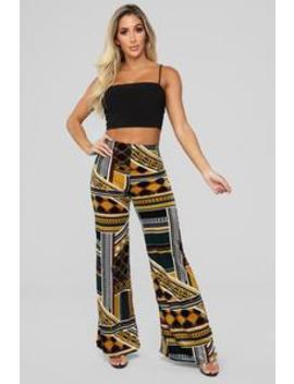 Boogie Down Pants   Hunter Green/Multi by Fashion Nova