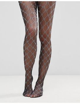 Asos Diamond Print Tights by Asos Collection