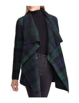 Plaid Shawl Sweater by Lauren Ralph Lauren