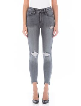 Luna High Waist Distressed Skinny Jeans by Fidelity Denim