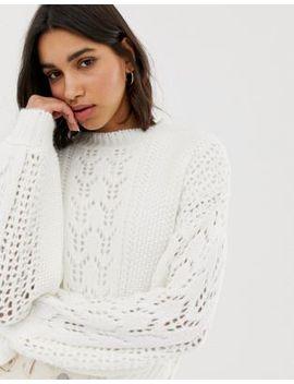 Asos Design Open Stitch Jumper In Fluffy Yarn by Asos Design