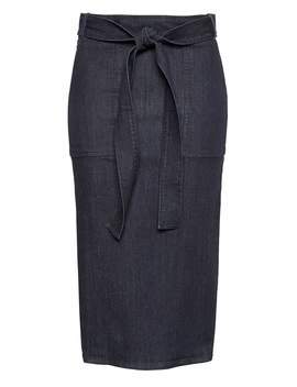 Japan Online Exclusive Denim Pencil Skirt With Belt by Banana Repbulic