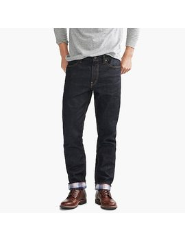 Straight Fit Flannel Lined Jean In Rinse Wash by J.Crew