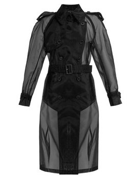 Double Breasted Organza Trench Coat by Maison Margiela