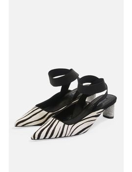 Jax Pointed Diamante Heel Shoes by Topshop