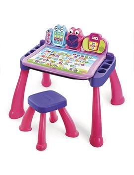 V Tech Touch And Learn Activity Desk Deluxe, Pink by V Tech