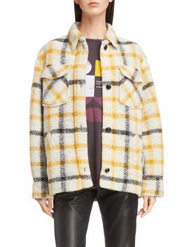 Isabel Marant Étoile Gast Check Wool Blend Jacket by Isabel Marant Etoile