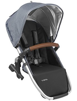 2018 Upp Ababy Vista Rumble Seat Gregory (Blue Melange/Silver/Saddle Leather) by Upp Ababy