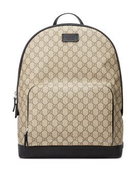 Men's Gg Supreme Canvas Backpack by Gucci