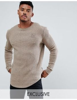 Sik Silk Curved Hem Sweater In Camel Exclusive To Asos by Sik Silk