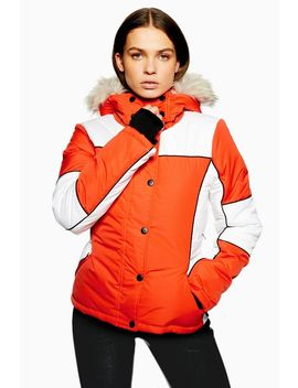 **Orange Colour Block Jacket By Topshop Sno by Topshop