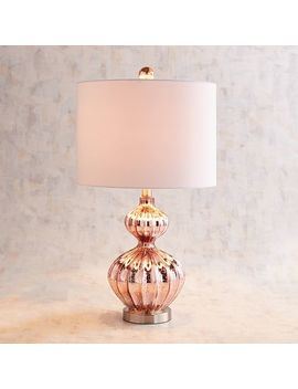 Blush Luxe Gourd Table Lamp by Pier1 Imports