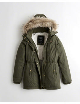 Sherpa Lined Parka by Hollister