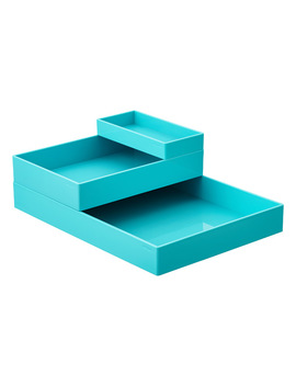 Aqua Poppin Accessory Trays by Container Store