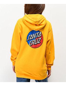 Santa Cruz Split Dot Gold Hoodie by Santa Cruz Skate