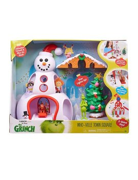 Dr. Seuss The Grinch Who Ville Town Square Playset Toy by Illumination