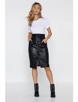 Paperbag In Action Faux Leather Skirt by Nasty Gal