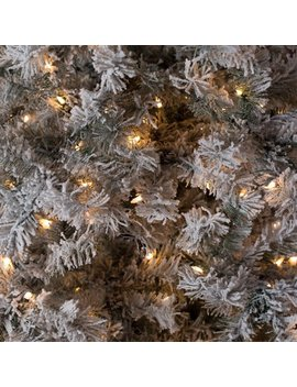 7.5ft Pre Lit Lightly Flocked Whiteland Pine W/Laser Glitter Christmas Tree By Sterling Tree Company by Sterling Inc.