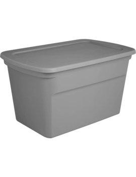 Sterilite 30 Gal Tote, Titanium, Case Pack Of 6 by Sterilite