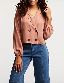 Double Breasted Top by Charlotte Russe