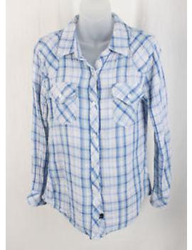 Rails Women's Multi Blue White Plaid Button Down Long Sleeve Top Shirt Size S by Rails