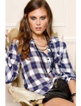 Rails $158 Hunter Classic Plaid Shirt, Blouse, Top, L by Rails
