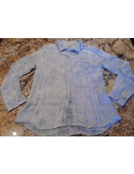 Rails Womens Button Down Flannel Shirt White Blue Faded Plaid Size Small by Rails