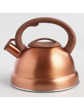Brushed Copper Kettle With Rubber Base by World Market