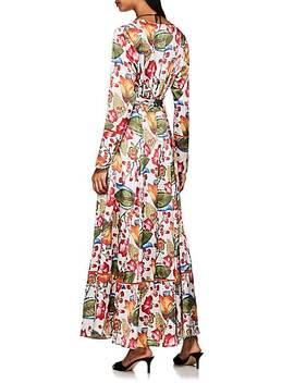 Floral Silk Charmeuse Robe by We Are Leone