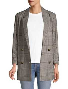 Double Breasted Plaid Blazer by The Kooples