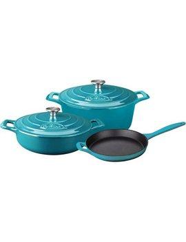 La Cuisine 5 Piece Enameled Cast Iron Cookware Set, Round Casserole by La Cuisine
