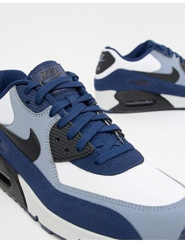Nike Air Max 90 Leather Trainers In Blue 302519 400 by Nike