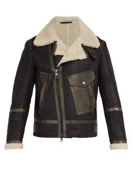 Shearling Leather Jacket by Neil Barrett