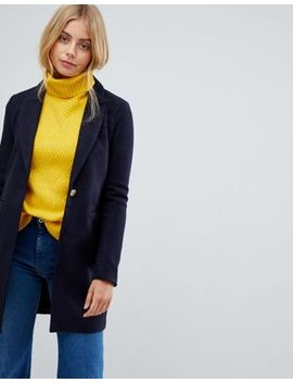 Only Lina Wool Blend Slim Coat by Only