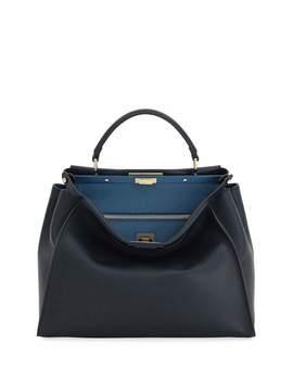 Peekaboo Large Leather Satchel Bag by Fendi