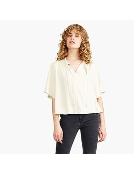Nevereven Tie Neck Top by J.Crew
