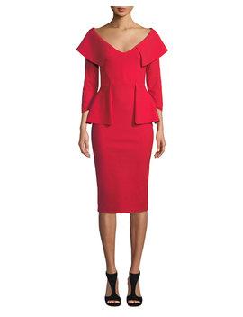 Hande Collared Peplum Dress by Chiara Boni La Petite Robe